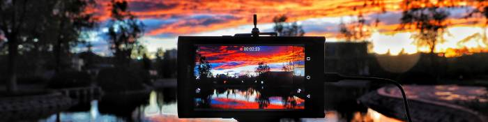 Sunset on a digital device