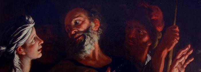 painting - La negazione di san Pietro