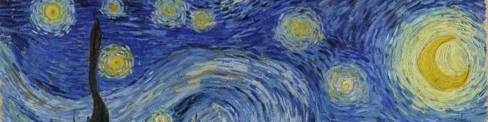 Starry Night - Van Gogh, detail
